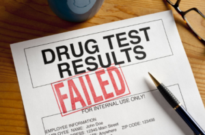 image of failed drug test